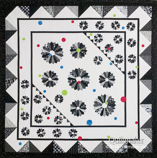 "Image of quilt pattern ""Dancing Dresdens"""