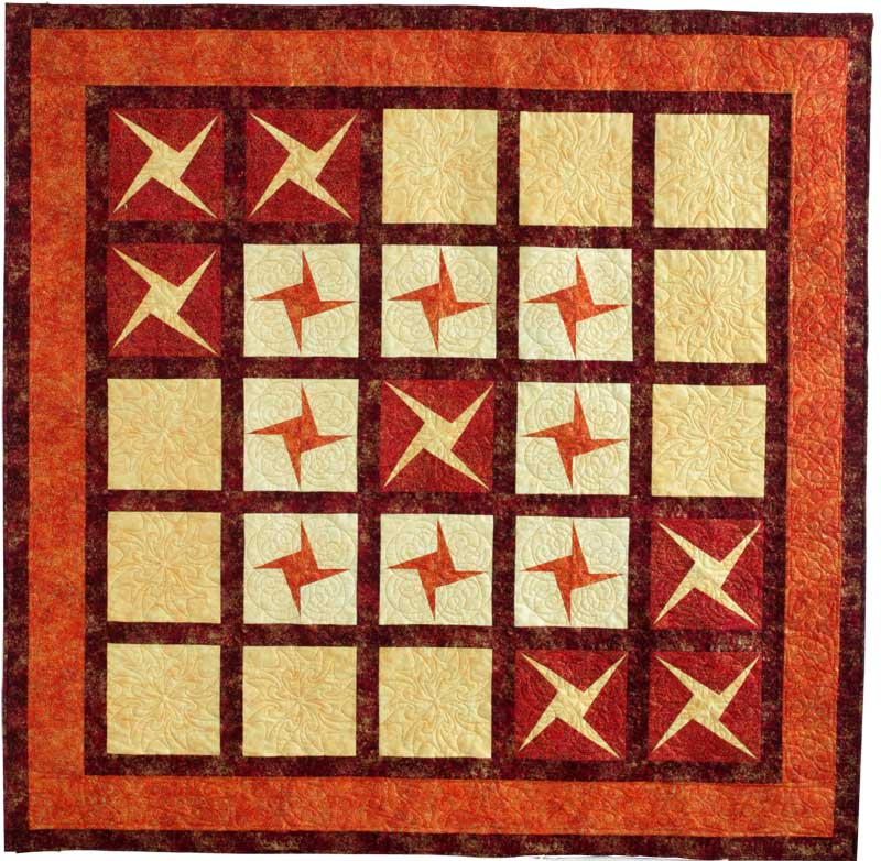 "Image of quilt pattern ""Dancing Stars"""