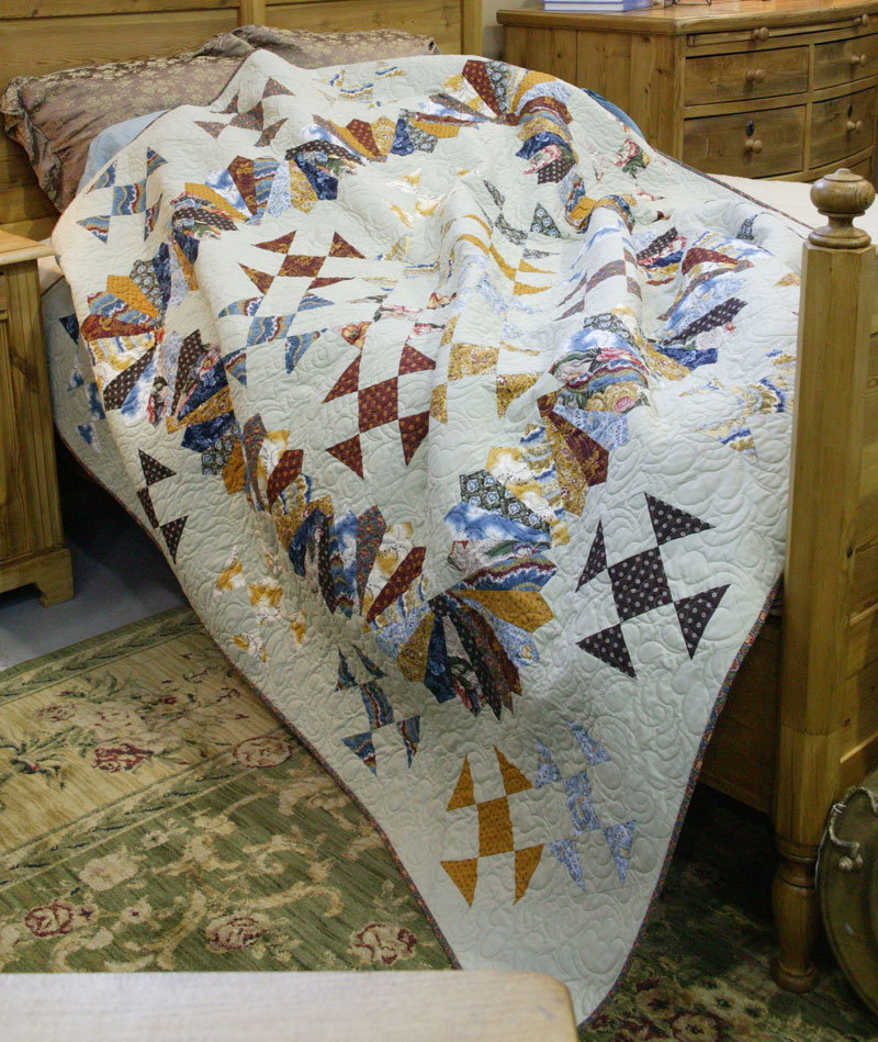 "Image of quilt pattern ""Fan of Nines"""