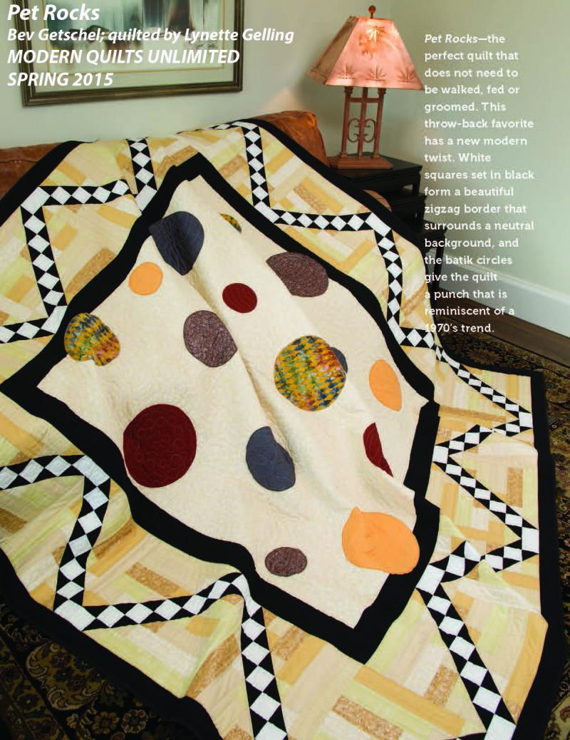 "Photo of quilt called ""Pet Rocks"""