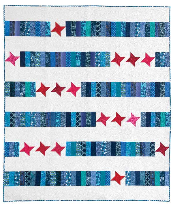 "Photo of quilt design ""Stars and Strips"""